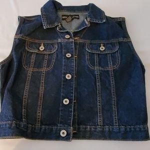 Denim jacket sleeveless